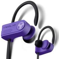TREBLAB XR700 Wireless Sports Earbuds - Custom Adjustable Earhooks, PRO Running Bluetooth 5.0 Headphones for Athletes. IPX7 Waterproof, Sweatproof, in-Ear Headset, Noise Cancelling Earphones (Purple)