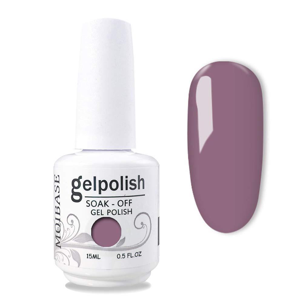MOIBASE 15ml Gel Nail Polish Lacquer Shiny Color Soak Off UV LED Professional Manicure Taupe 1579