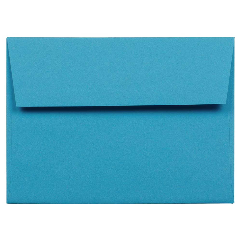 JAM PAPER A6 Colored Invitation Envelopes - 4 3/4 x 6 1/2 - Blue Recycled - 100/Pack