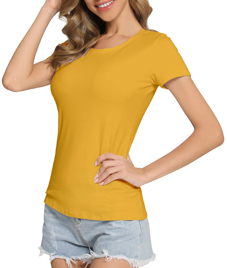GUBUYI Women's Short Sleeve T-Shirt Sexy Soft Cotton Top
