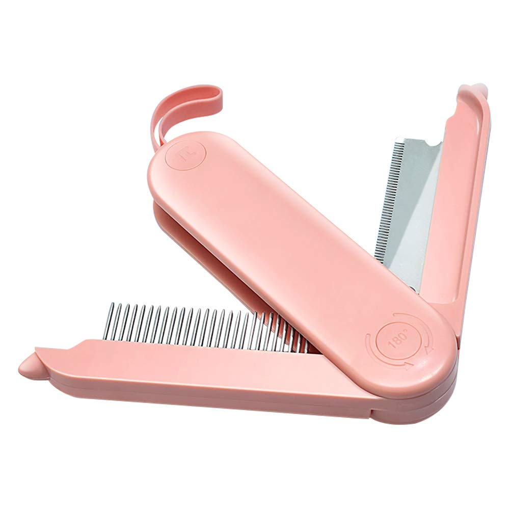 Luccalily Cat Dog Comb, Grooming Tool for Pet Deshedding Detangling Stainless Steel Double-Sided