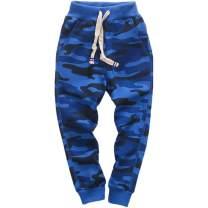 KISBINI Boy's Cotton Camouflage Sweatpants Sports Pants Joggers for Children Kids
