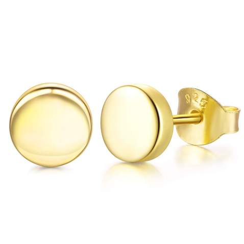 Wishmiss Gold Plated Sterling Silver Huggie Hoop Drop Earrings Moon Star Cross Dangle Earrings Hypoallergenic For Women