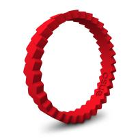 Enso Rings Slanted Stackable Silicone Ring   Premium Fashion Forward Silicone Ring   Hypoallergenic Medical Grade Silicone   Lifetime Quality Guarantee   Commit to What You Love