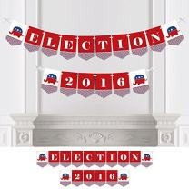 Big Dot of Happiness Election Republican - Political 2020 Election Party Bunting Banner - Republican Party Decorations - Election Party