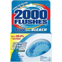 2000FlushesBluePlus Bleach Automatic Toilet Bowl Cleaner, 3.5 OZ
