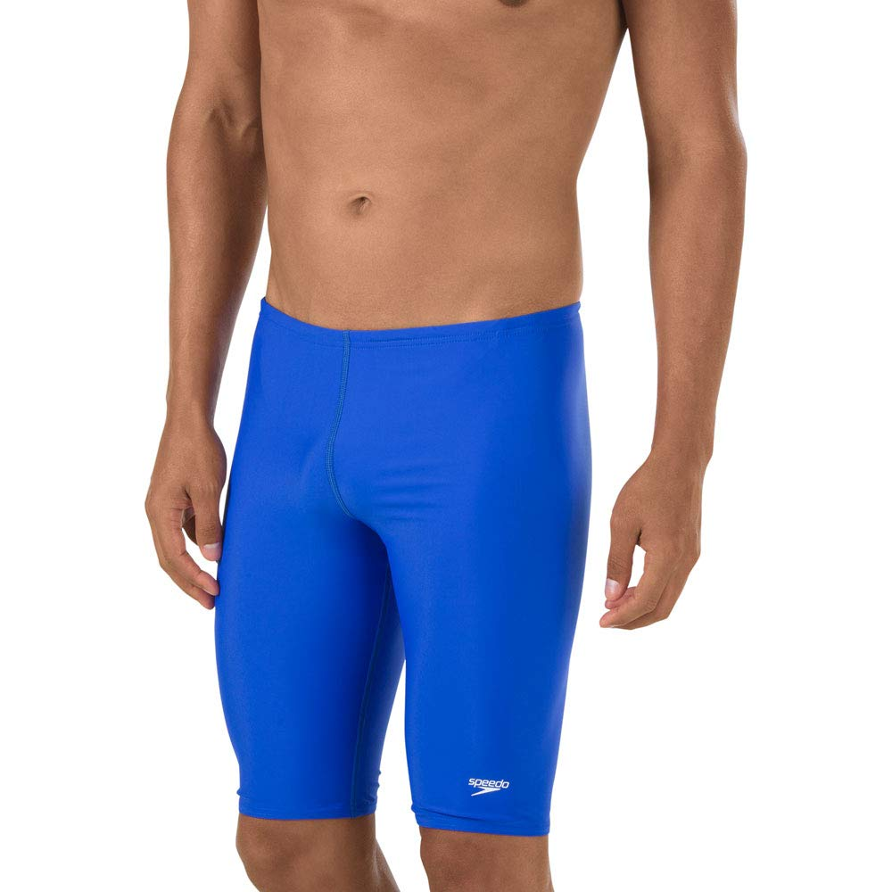 Speedo Mens Swimsuit Jammer Powerflex Eco Solid Adult