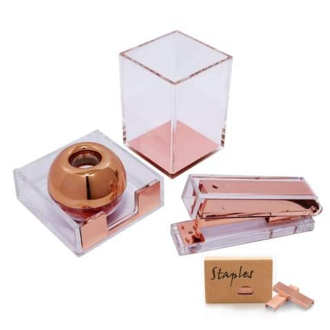 Staple Multibey Marble Office Supplies Desk Organizer Set Tape Dispenser Cutter