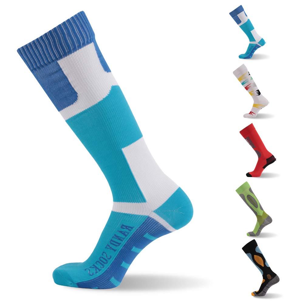 RANDY SUN Not Waterproof But Windproof Socks, [SGS Certified] Unisex Knee High Sport Climbing Cycling Hiking Socks 1 Pair