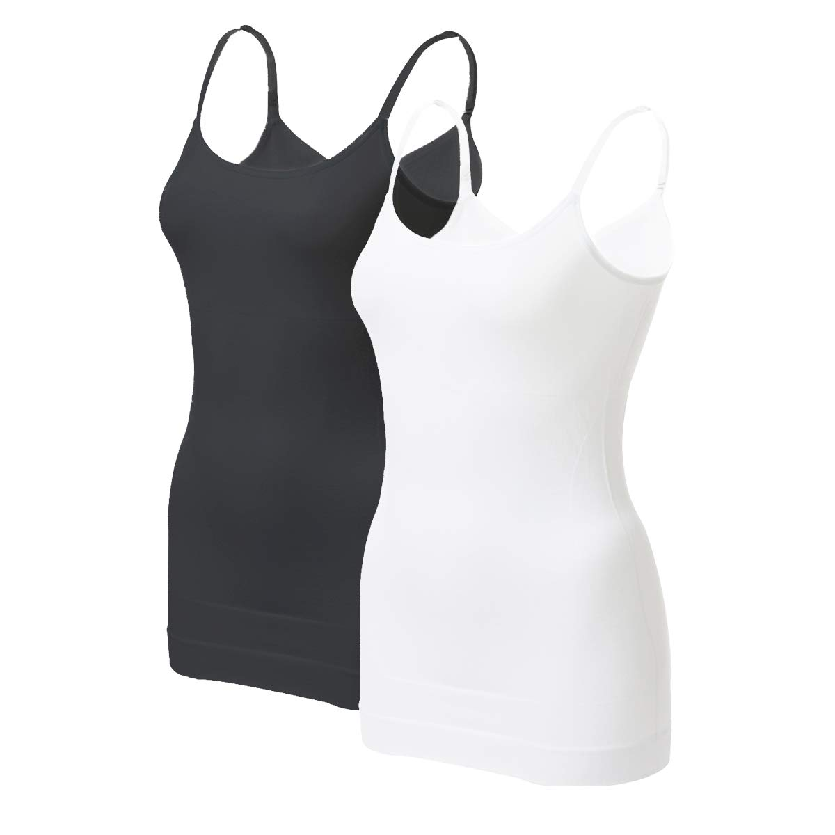 EUYZOU Women's Tummy Control Shapewear Tank Tops - Seamless Body Shaper Compression Top