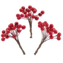 Baker Ross Artificial Red Berries (Pack of 100 Berries) Creative Christmas Art and Craft Supplies for Kids' Projects and Decoration