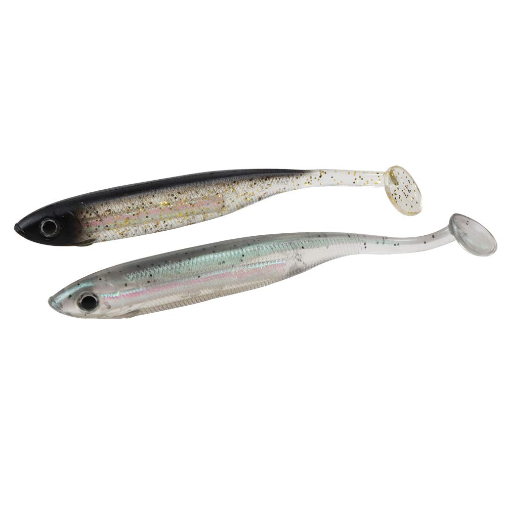 JOHNCOO Fishing Lure 3D Eyes Shad Lure Soft Bait Soft Silicone Bait Swimbaits Plastic Lure