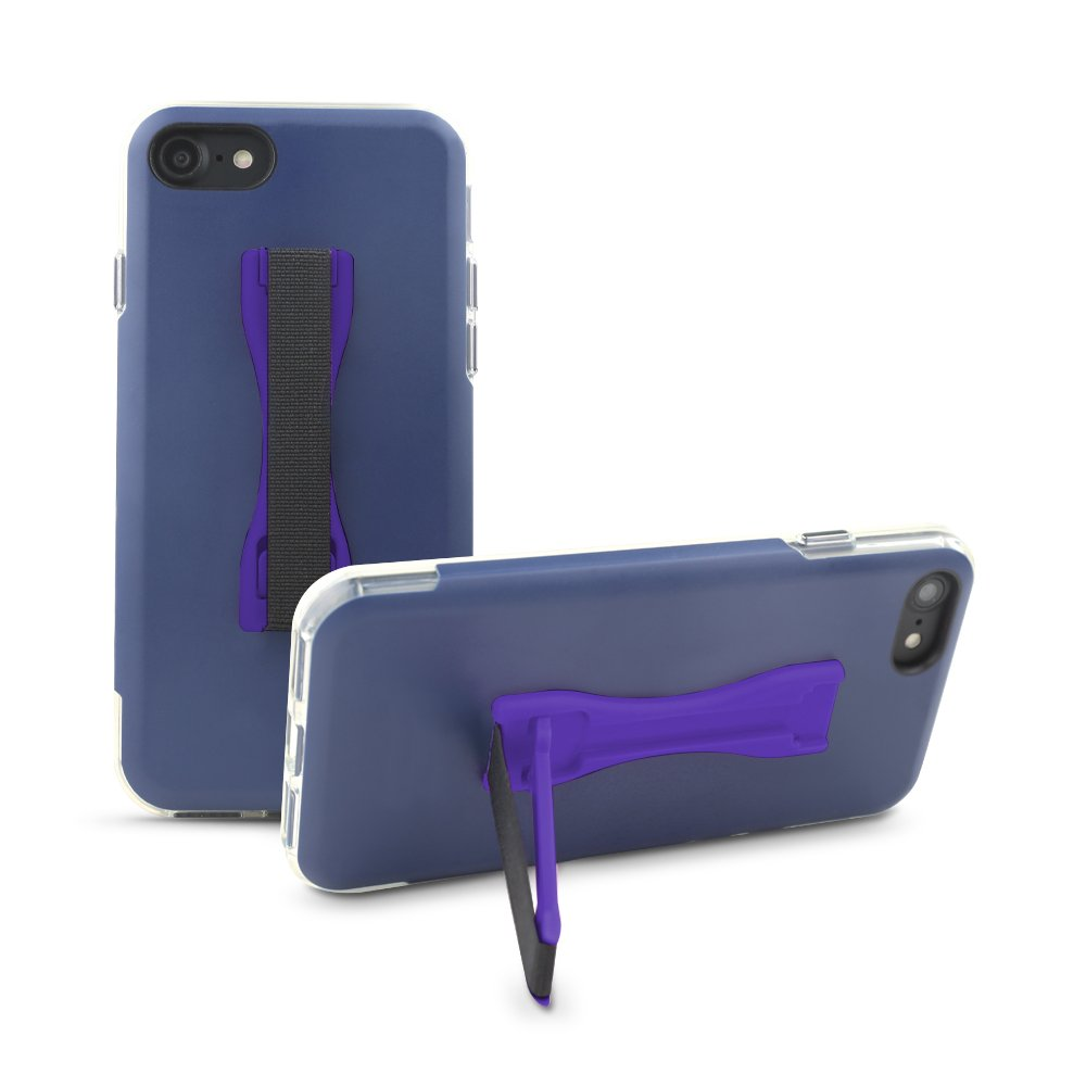 Gear Beast Cell Phone Grip Stand, Universal Phone Strap Finger Holder with Pop Out Kickstand for Men and Women, Ultra Slim Pocket Friendly (Purple)