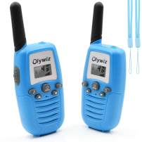 Olywiz Walkie Talkie for Boys Girls Pair Blue|Kids Walkie Talkies Toys for 4-12 Years Old|Easy to Use Loud&Clear with Lanyard and Flashlight