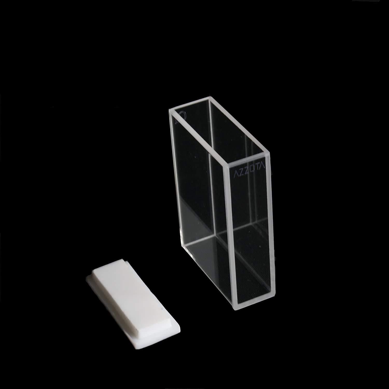 Azzota Q206 Standard Fluorimeter Cell, Lid, Quartz, 30mm Path Length, 10.5mL Volume