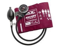 ADC Diagnostix 720 Pocket Aneroid Sphygmomanometer with Adcuff Nylon Blood Pressure Cuff, Adult, Magenta