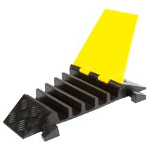 5-Channel Rubber Cable Ramp Modular Right Turn Corner Section