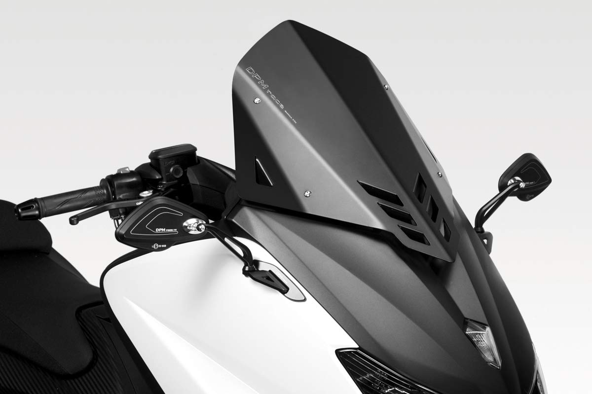 TMAX 530 2012/16 - Kit Windscreen 'Warrior' SS (R-0700) - Aluminum Windshield Fairing - Hardware Fasteners Included - De Pretto Moto Accessories (DPM Race) - 100% Made in Italy