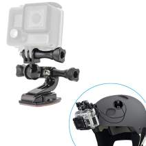 Paste Curved-Surface with Swivel Bearing Motorcycle Helmet Chin Mount for GoPro Hero 7 6 5 4 3+ 3 2 1 Session and Mini Camera