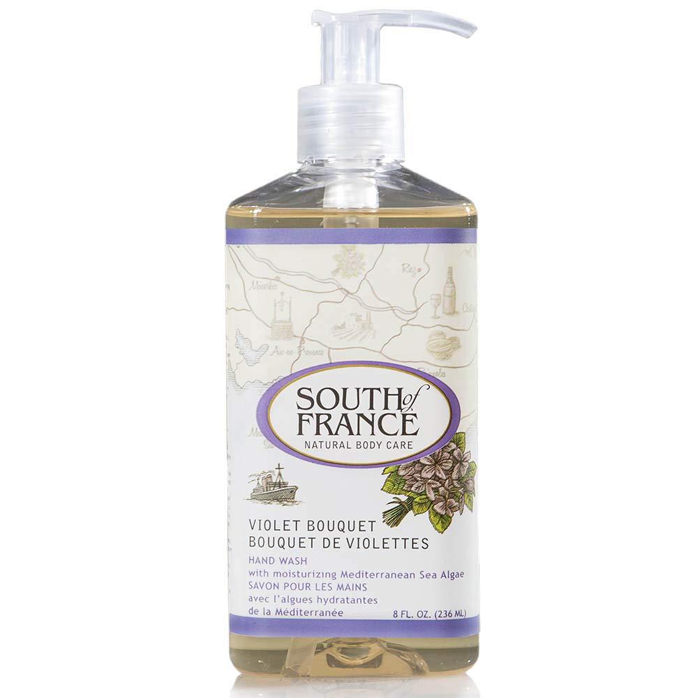 Violet Bouquet - South of France Natural Body Care 8oz Hand Wash (1 Bottle)