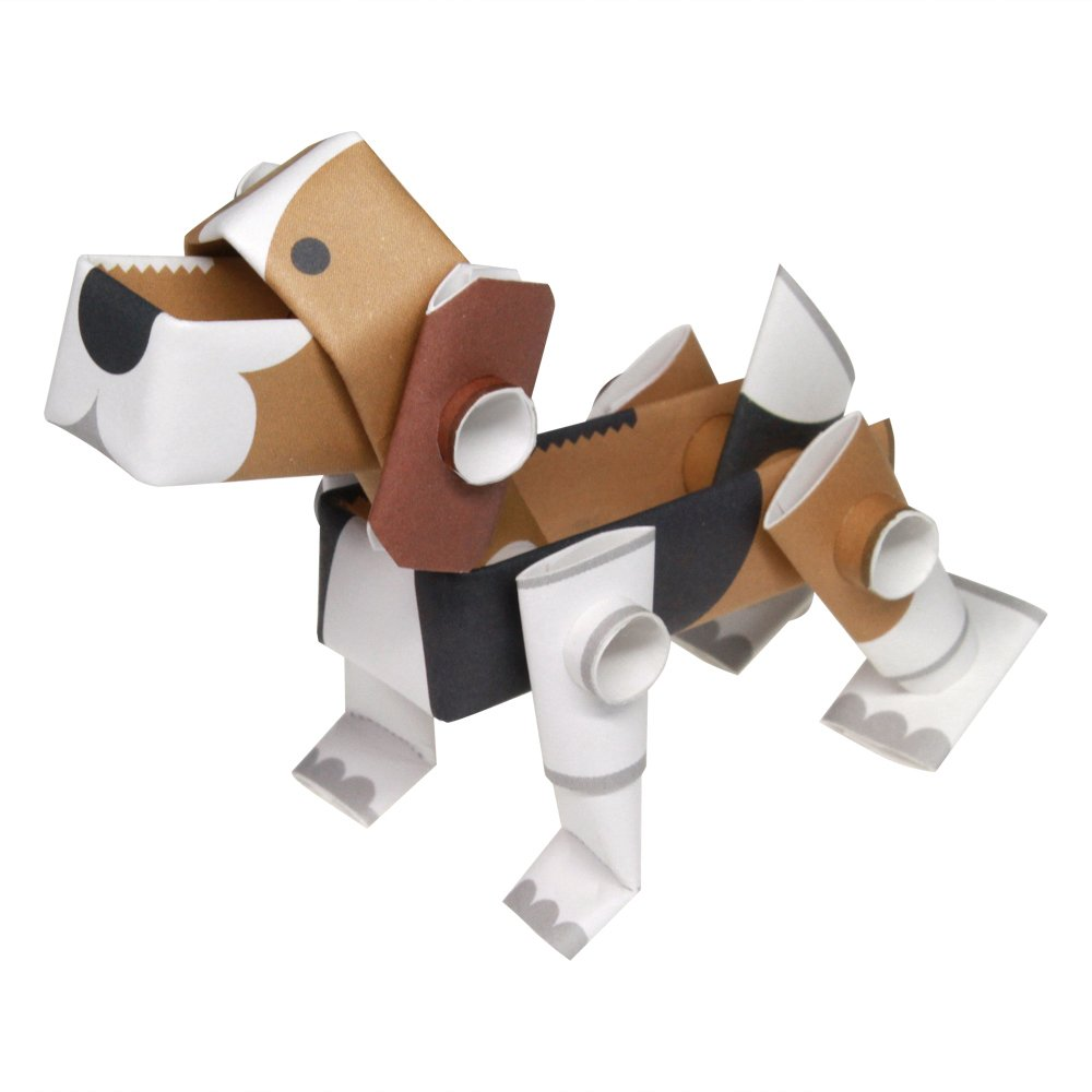 PIPEROID Animals Beagle Dog Japanese DIY Paper Craft Kit - Cool Science Party Favor for Teens and Origami Loving Adults