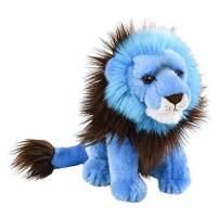 Wildlife Tree 9 Inch Bright Blue Lion Plush Stuffed Animal Floppy Rainbow Prism Collection