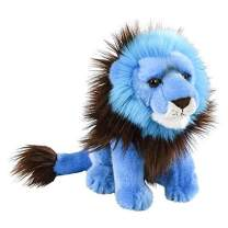 Wildlife Tree 9 Inch Bright Blue Lion Plush Stuffed Animal Floppy Rainbow Prism Collection