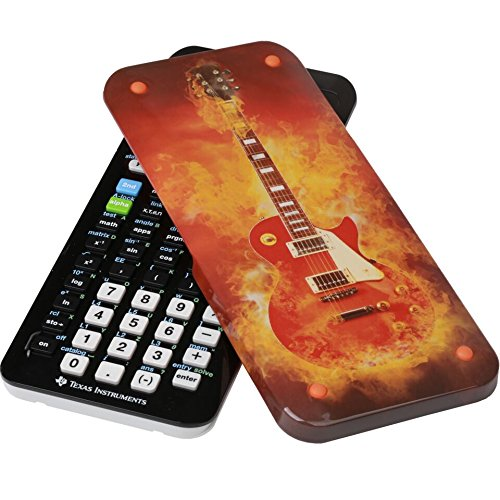 Guerrilla Hard Slide Case for Texas Instruments TI-84 Plus CE Color Edition Graphing Calculator With Screen protector and Graphing Ruler, Guitar