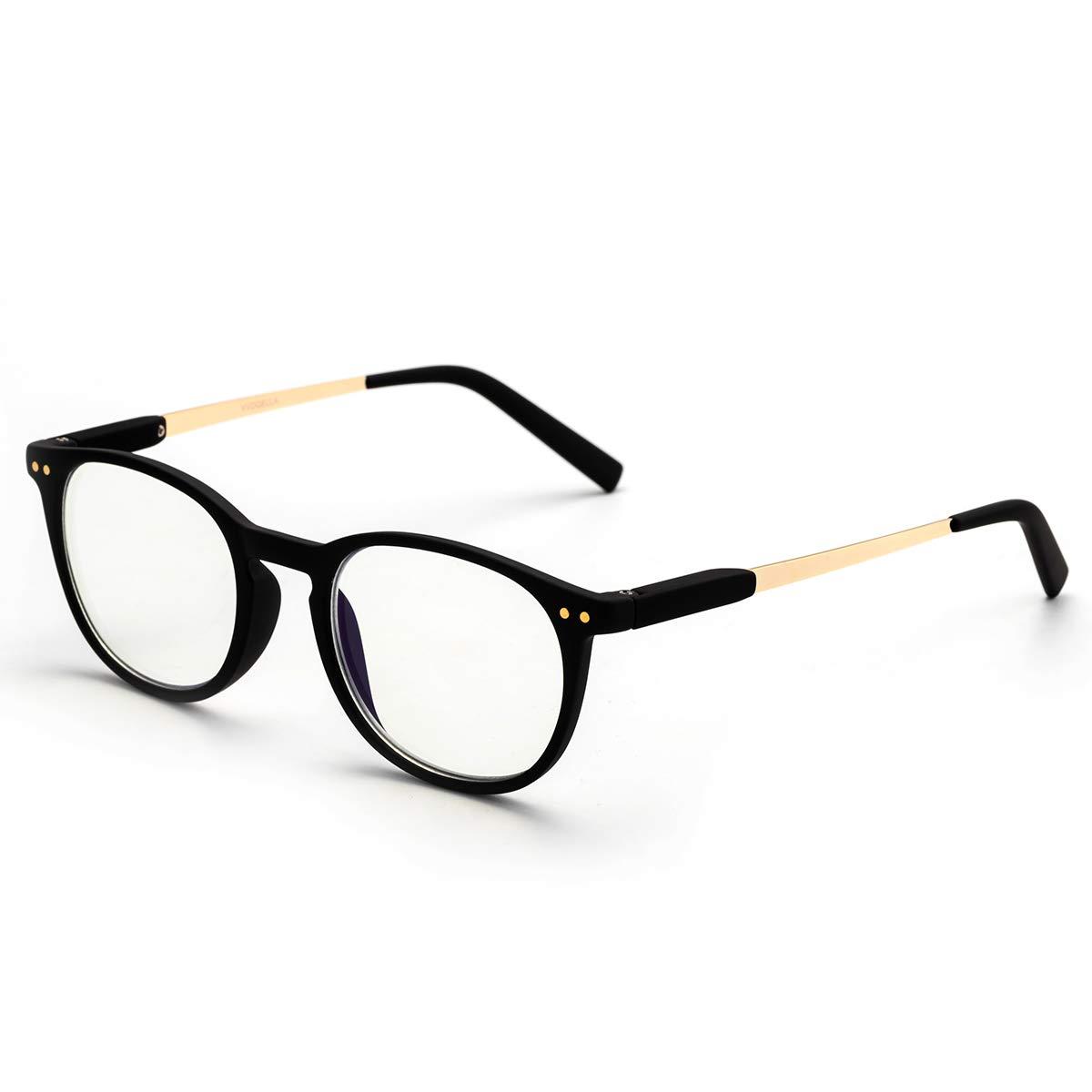 LAURA FAIRY Blue Light Blocking Reading Glasses for Women and Men, 1.5 Computer Reading Glasses with Spring Hinge TR90 Lightweight Frame UV Protection Anti Glare Eyestrain Reader (Black,1.5D)