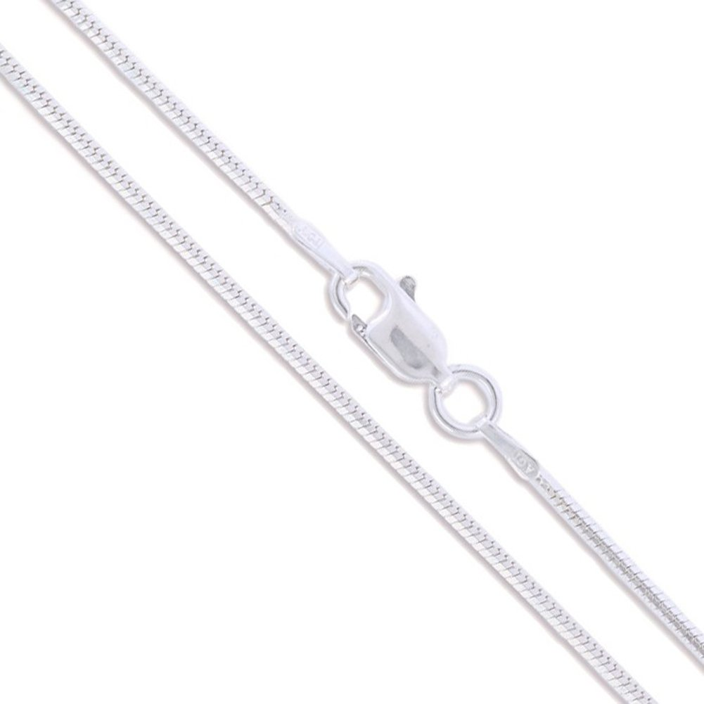 Sterling Silver 8 Sided Magic Snake Chain 1.2mm Solid 925 Italy New Necklace
