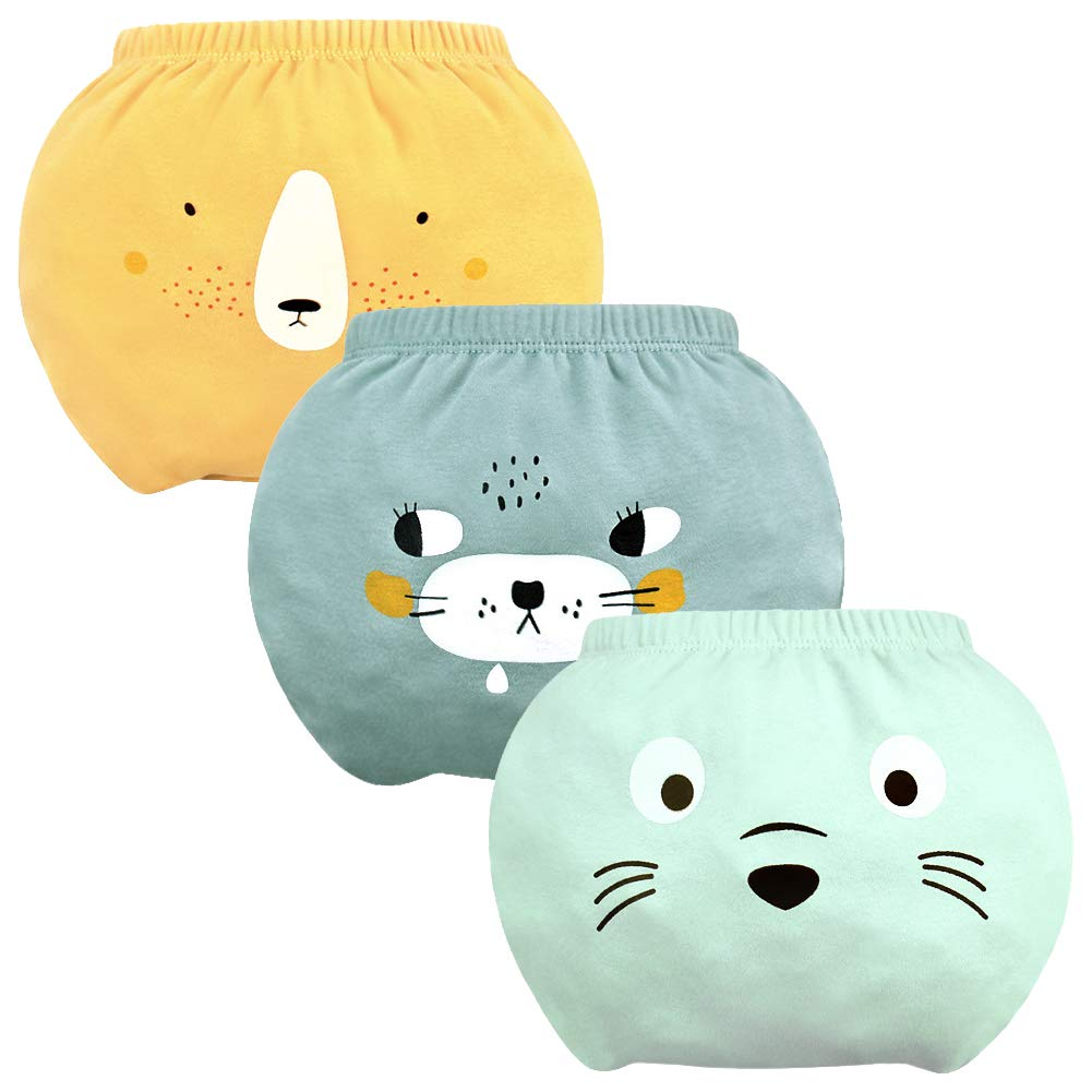 Baby Training Pants Newborn Infant Cotton Training Underwear Diaper Toddler Potty Training Pants Baby Boys Girls Briefs 0-4T (2-3T, 3-Pack-a)
