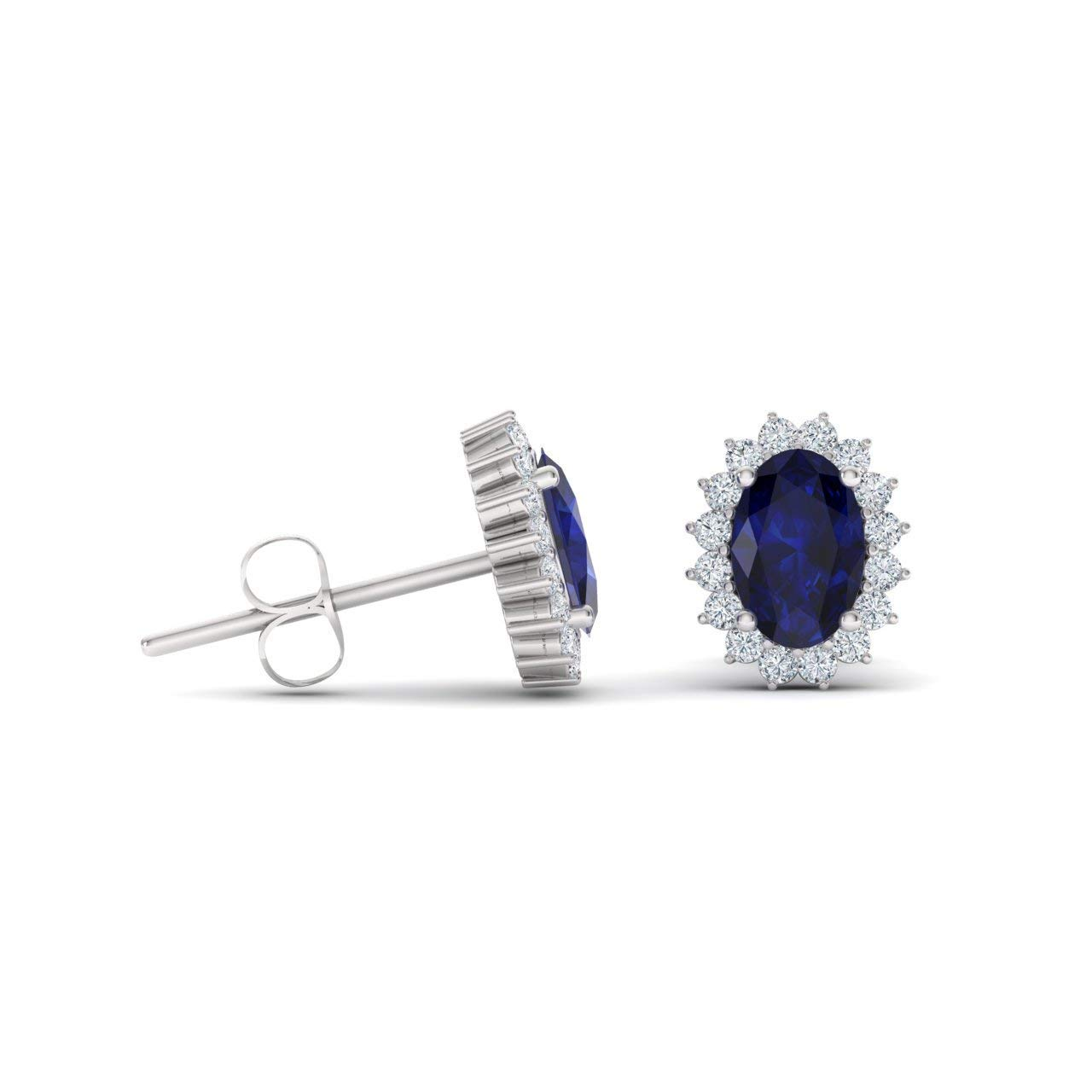 Perfect Grooms /& Groomsman Gifts. Delicate Blue Sapphire,Cz Gem Cufflink In 925 Sterling Silver Fine Jewelry For Men September Birth Stone
