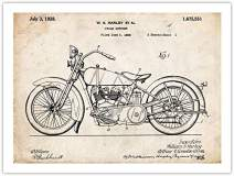 Harley Poster 1928 Patent Art Print 18x24