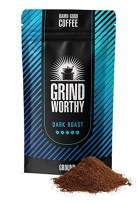 Grind Worthy Ground Coffee - Highest Quality Taste - Best Coffee (Dark, 1 Pound - 16 Ounces)