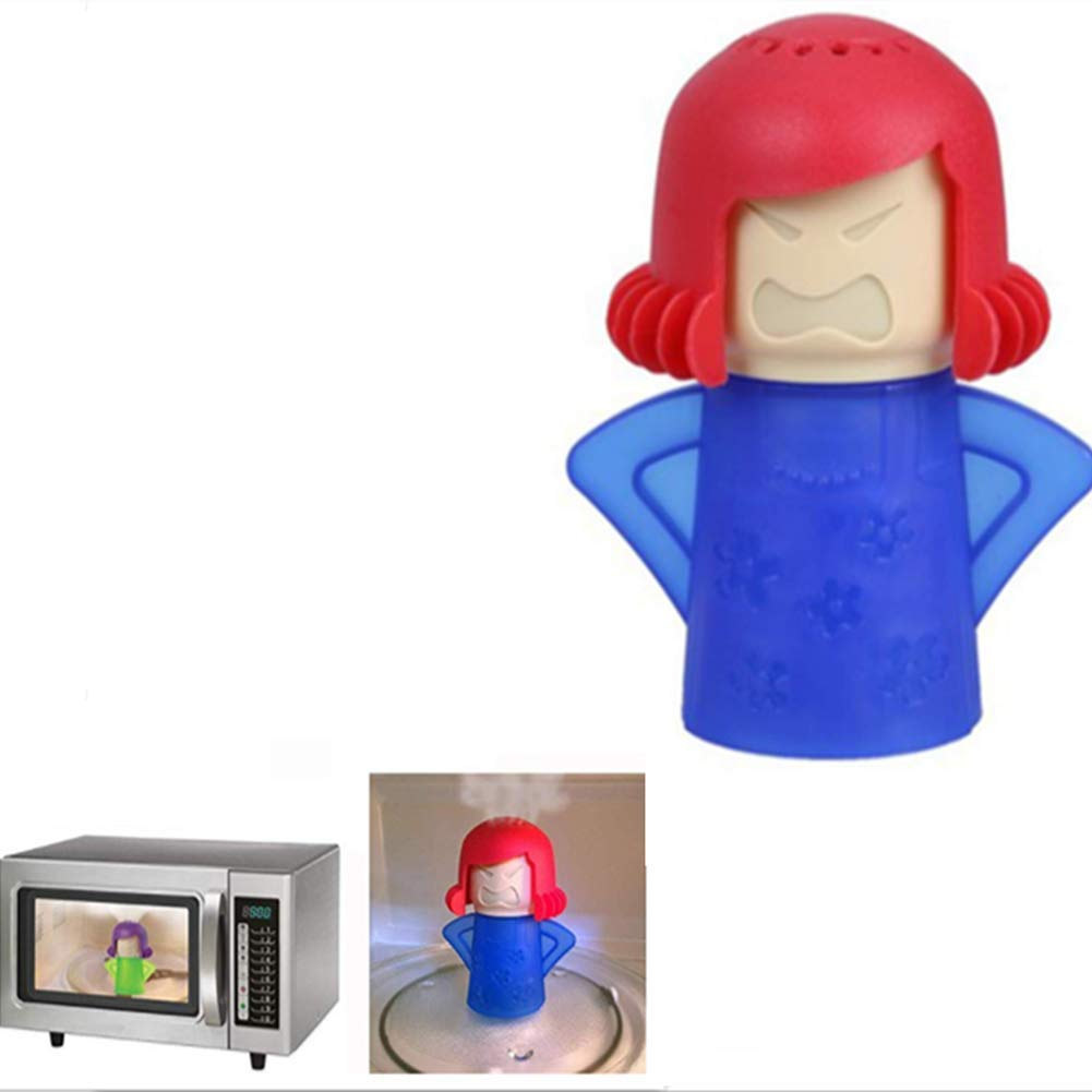 Abnaok Angry Mom Microwave Cleaner - Angry Mom Mad Mama Microwave Oven Cleaner High Temperature Steam Cleaning Equipment Tool Easily Crud Steam Cleans Add Vinegar and Water for Kitchen (Blue)