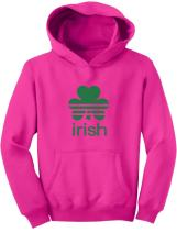 TeeStars - Irish Shamrock St. Patrick's Day Clover Cute Youth Hoodie