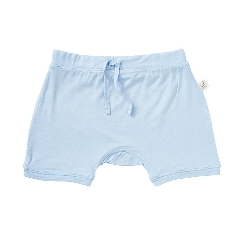 Boody Body Baby EcoWear Pull On Shorts - Soft Drawstring Infant Short Pants Made from Natural Organic Bamboo - Soft Breathable Eco Fashion for Sensitive Skin - Sky Blue, 6-12 Months