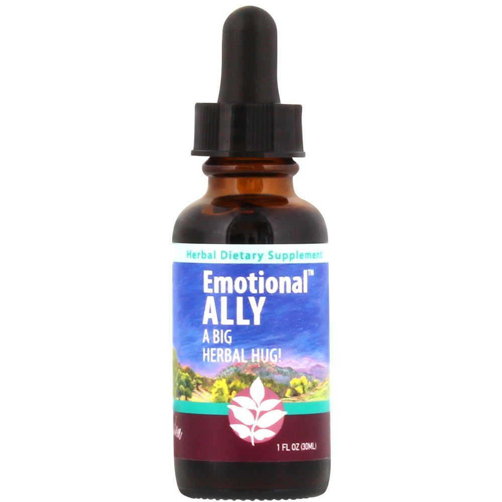 WishGarden Herbs - Emotional Ally, Anxiety and Duress Aid, Certified Organic, Liquid Mood Support Herbal Supplement (1 Ounce Dropper)