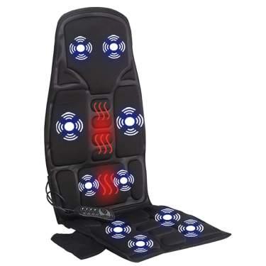 Universal DC 12V Portable Car Chair Massage Heat Seat Support Vibration Massager
