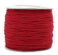 Mandala Crafts 1mm Elastic Cord Stretchy String for Bracelets, Necklaces, Jewelry Making, Beading, Masks; 109 Yards Red