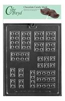 Cybrtrayd Life of the Party K172 Assorted Building Blocks Chocolate Candy Mold in Sealed Protective Poly Bag Imprinted with Copyrighted Cybrtrayd Molding Instructions
