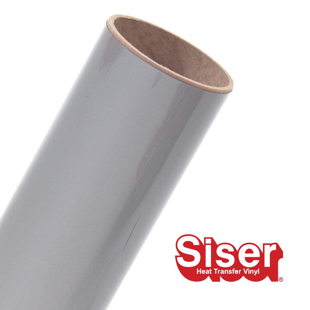 "Siser EasyWeed HTV 11.8"" x 20ft Roll - Iron On Heat Transfer Vinyl (Silver)"
