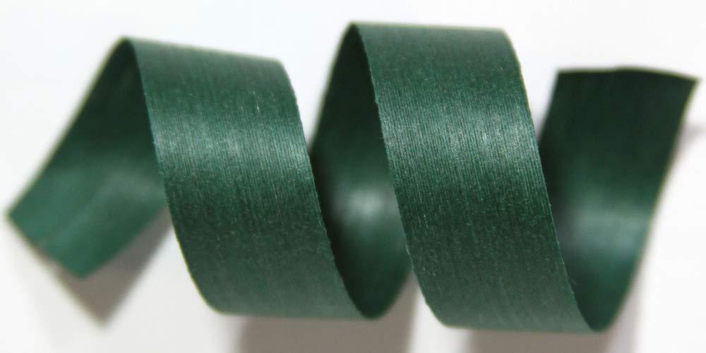 "100% Biodegradable Natural Ribbon | 33 Solid Colors | Ribbon for Crafts | Cotton Curling Ribbon | Holiday Ribbon | Wrapping Ribbon | Eco-Friendly Ribbon (Forest, 1/2"" x 250 Yards)"