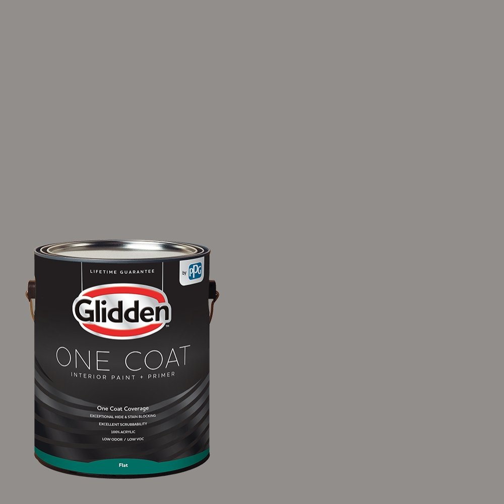 Glidden Interior Paint + Primer: Gray/Antique Silver, One Coat, Flat, 1-Gallon
