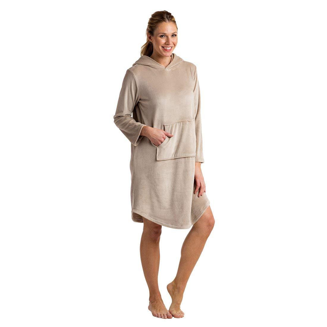 Softies Women's Ultra Soft Hooded Snuggle Lounger with Kangaroo Pocket, Oprah's Favorite Thing