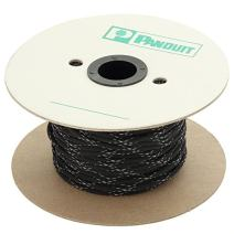 Panduit SE25PFR-TR0 Braided Expandable Sleeving, Flame Retardant, Polyethylene Terephthalate, Black (200-Foot)