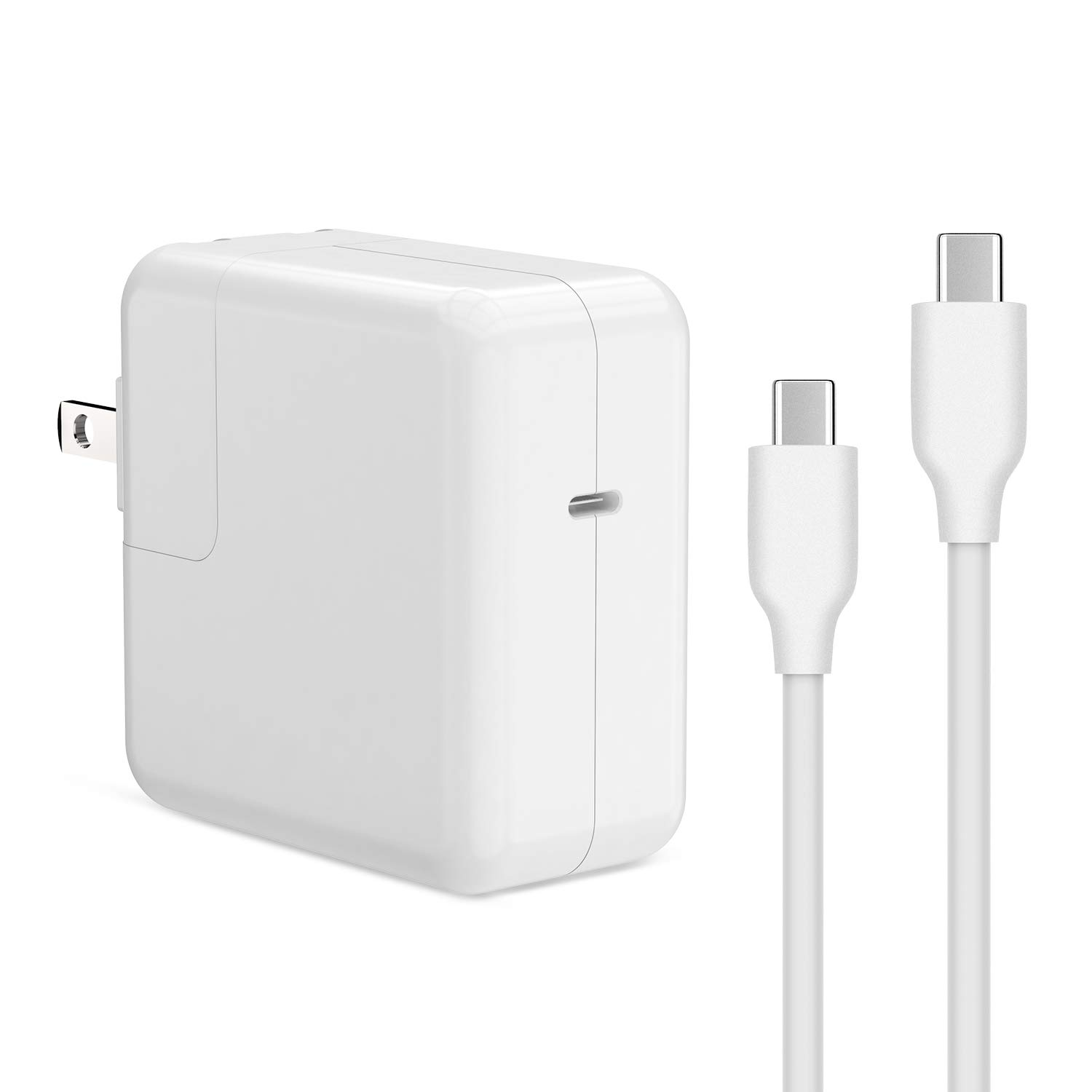 AYNEFF USB C Wall Charger, 30W USB-C Power Adapter, Power Delivery Compatible with MacBook 12-inch, 2018 MacBook Air,2018 iPad Pro, iPhone 11 Pro Max, Tablet with 6.5ft USB-C to USB-C Charging Cable