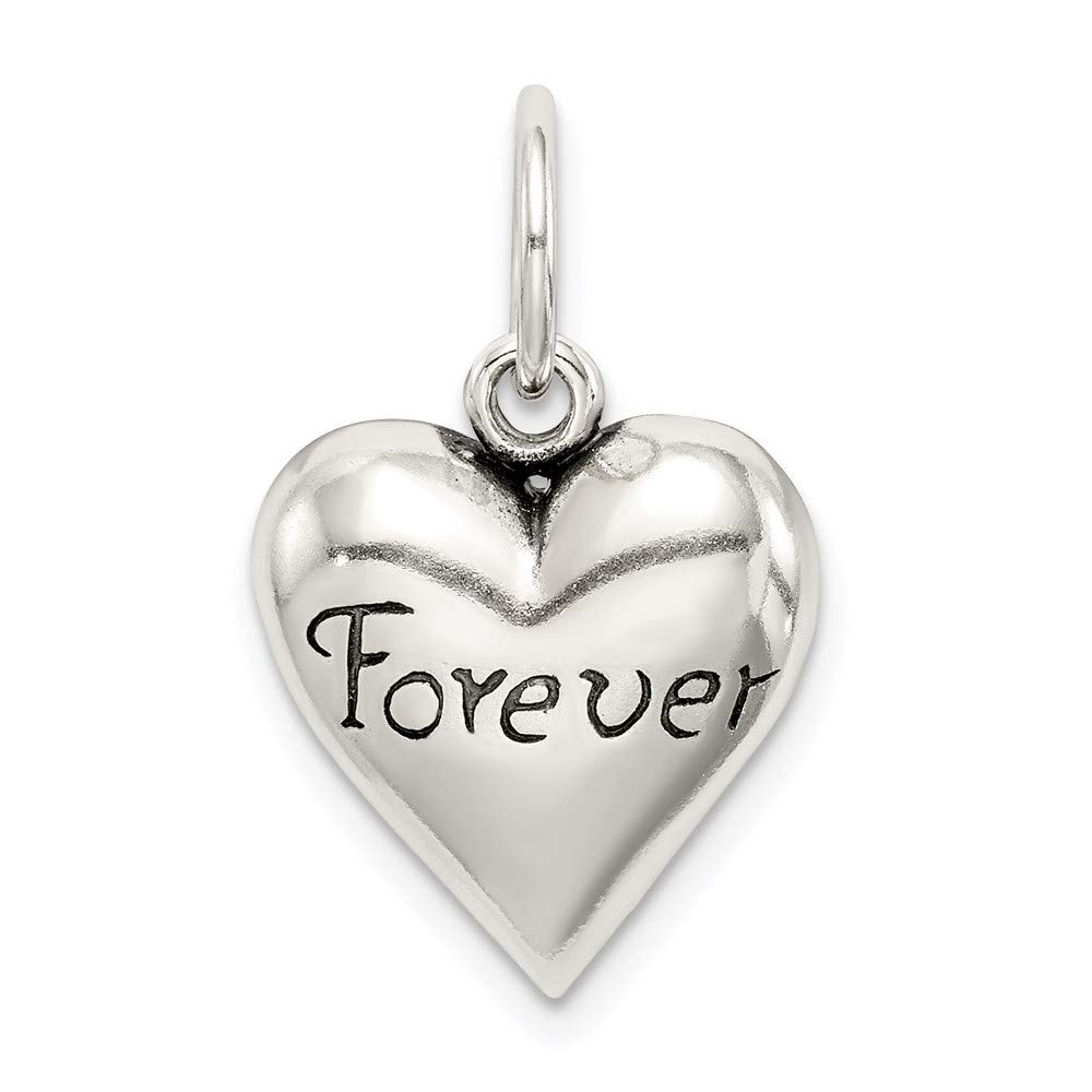 925 Sterling Silver Forever Heart Pendant Charm Necklace Love S/love Message Fine Mothers Day Jewelry For Women Gifts For Her