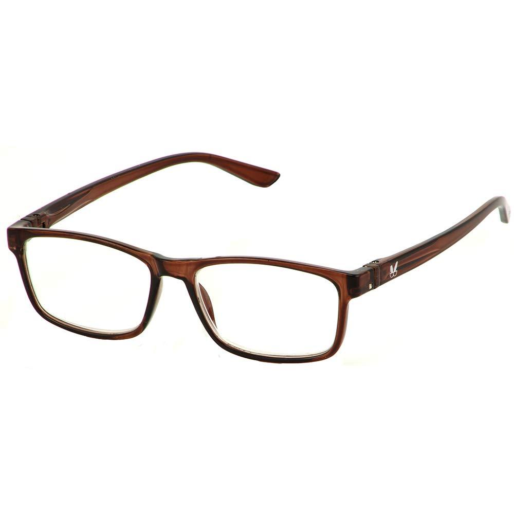 Bunny Eyez Jacob Wearable, Tilt-able, Flip-able Guyz Reading Glasses (Dark Brown Crystal, 3.00)