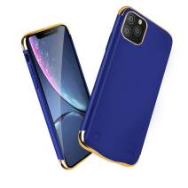 Battery Case for iPhone 11 Pro Max, HONTECH iPhone 11 Pro Max Battery Case, 6000mAh Portable Charger Extended Rechargeable Battery Pack Charging Protective Cover 6.5 inch 2019 (Blue)